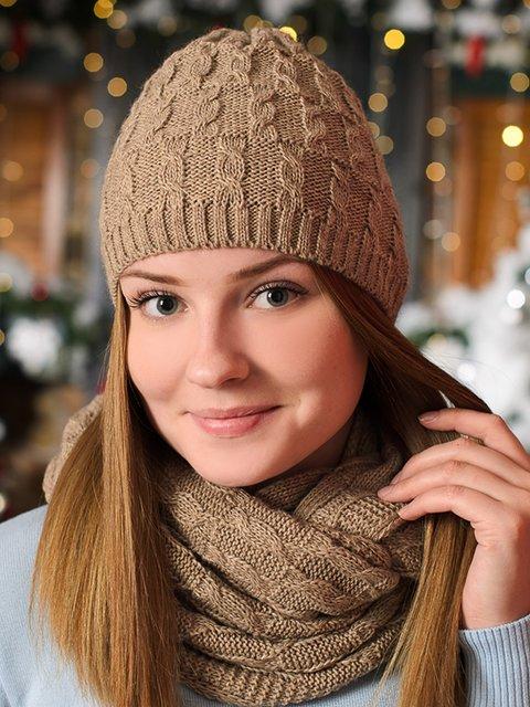 Комплект: шапка и снуд G-Rom 3892420