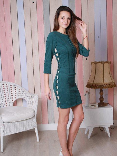Платье бутылочного цвета VSV 3896551