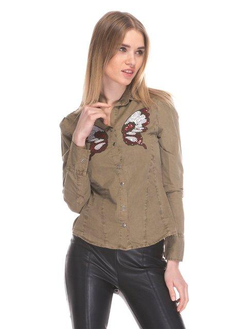 Рубашка цвета хаки Cool&Sexy 3898705