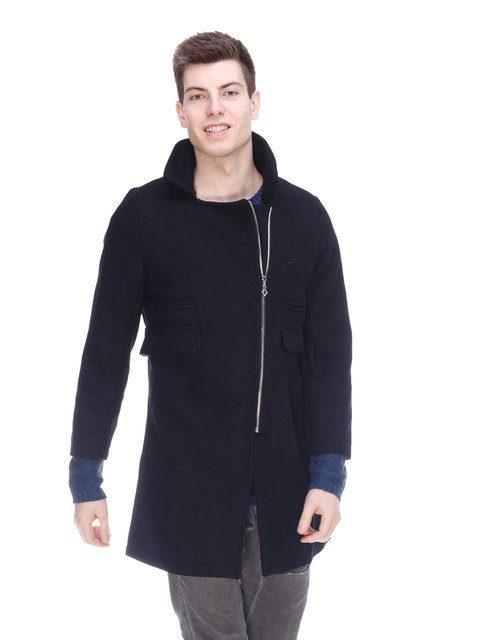Пальто черное Fashion 3897710