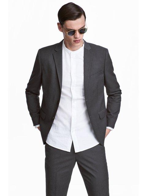 Пиджак темно-серый H&M 3897326