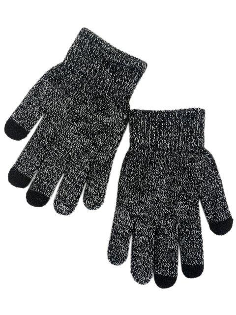 Перчатки черно-белые сенсорные Traum 3903750