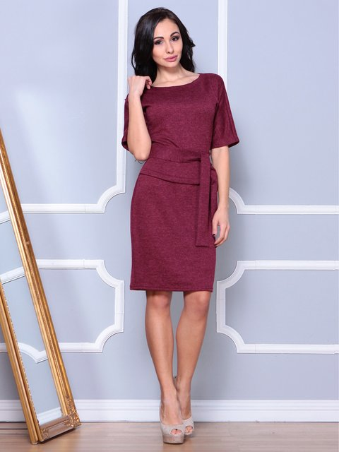 Платье бордовое Laura Bettini 3904086