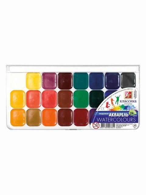 Краски акварельные «Классика» (24 цвета) Луч 3906655
