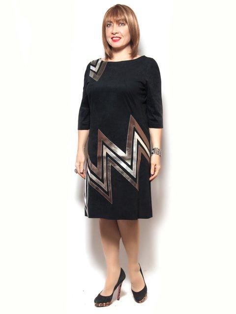 Платье черное с принтом LibeAmore 3906831