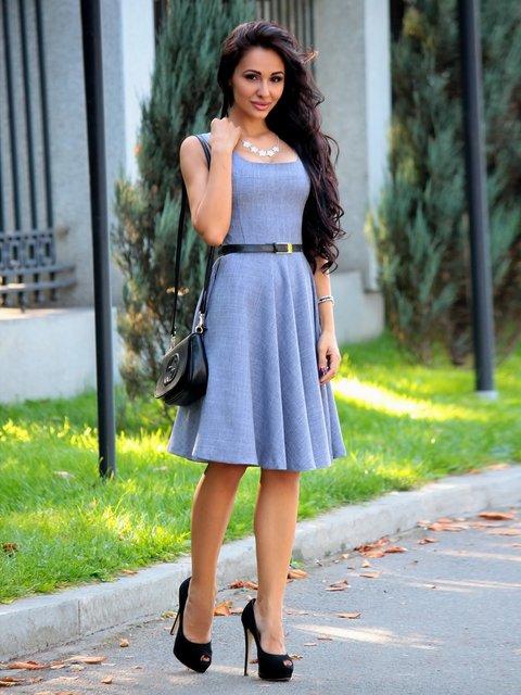 Платье цвета фиолетовой дымки Maurini 2363265