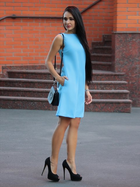 Сукня блакитна Laura Bettini 2375113