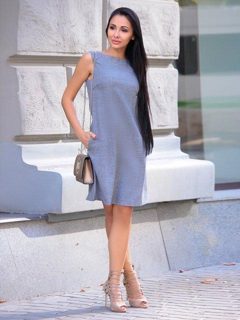 Платье дымчатого цвета Laura Bettini 2375116
