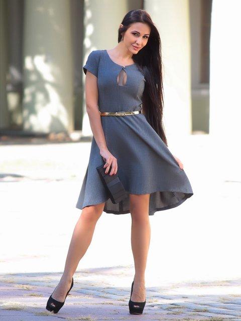 Платье графитового цвета Laura Bettini 2447716