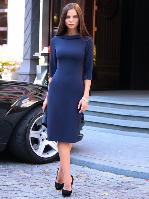 Сукня темно-синя Laura Bettini 2646862