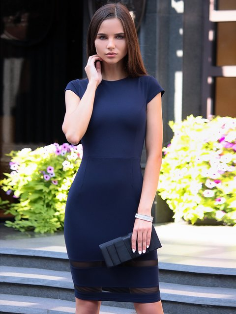 Платье темно-синее Maurini 2785086