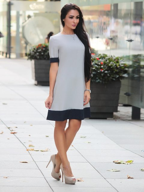 Платье бело-синее Rebecca Tatti 3041004