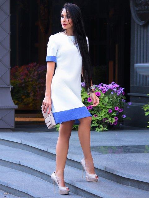 Сукня біло-синя Rebecca Tatti 3214949