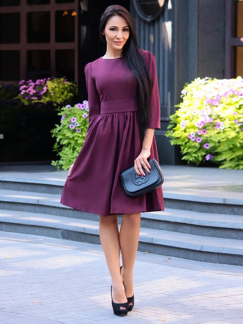 Платье сливовое Dioni 3302024