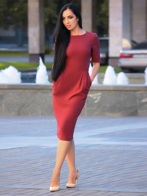 Сукня світло-сливова Victoria Loks 3347698