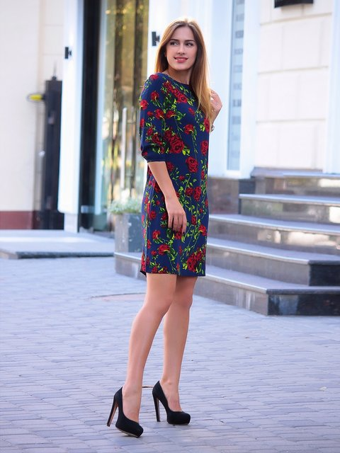 Сукня в квітковий принт Victoria Loks 3365204