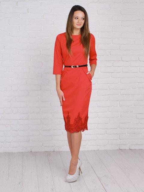 Платье красное VSV 2307167