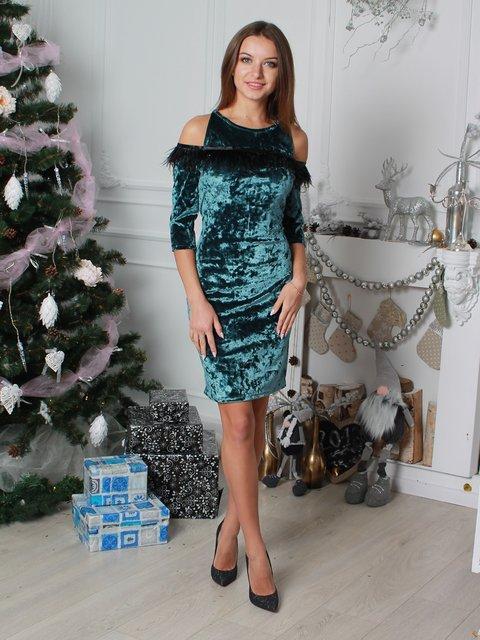 Платье изумрудного цвета VSV 3912553