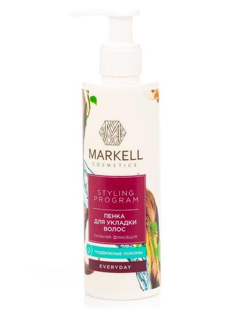 Пінка для укладання волосся «Сильна фіксація» (200 мл) Markell 3799096