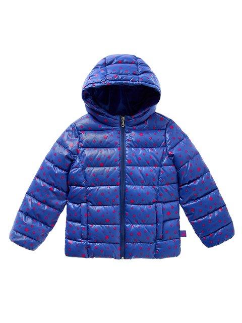 Куртка синя в принт Benetton 3699376