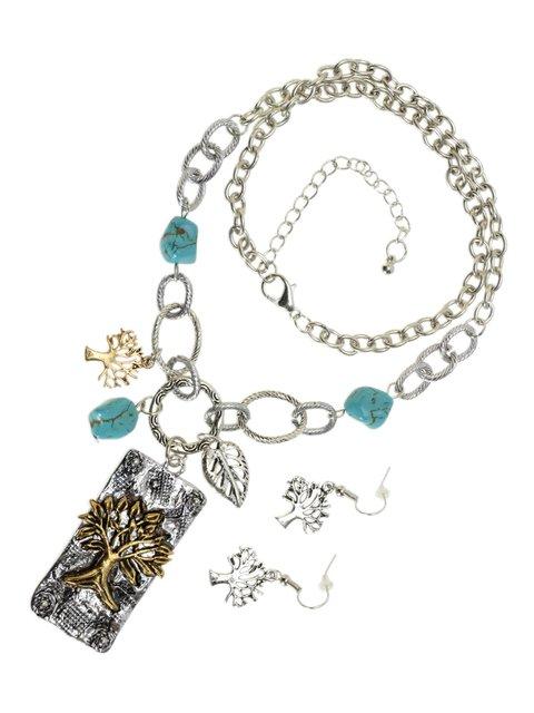 Набор: серьги, кулон и цепочка Traum 3920251