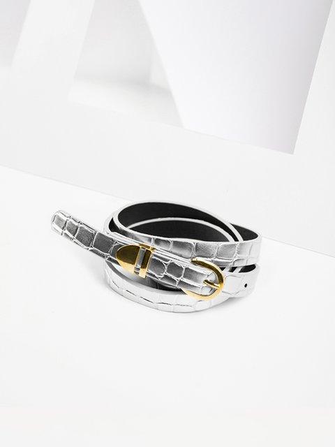 Ремень серебристый Gepur 3920014