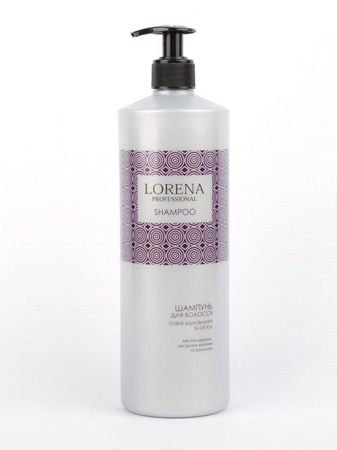 Шампунь для волосся «Повне відновлення і об'єм» (1000 мл) LORENA Professional 3919572