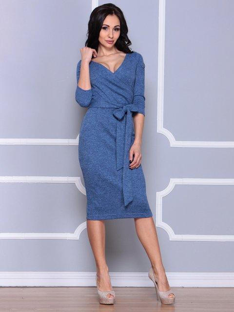 Платье цвета светлый джинс Laura Bettini 3926403