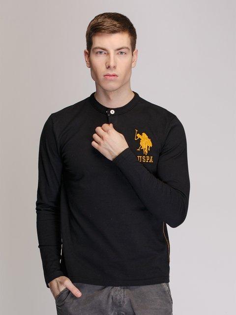 Лонгслів чорний US Polo ASSN 3918989
