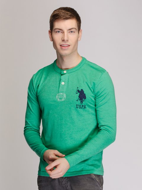 Лонгслів зелений US Polo ASSN 3918990