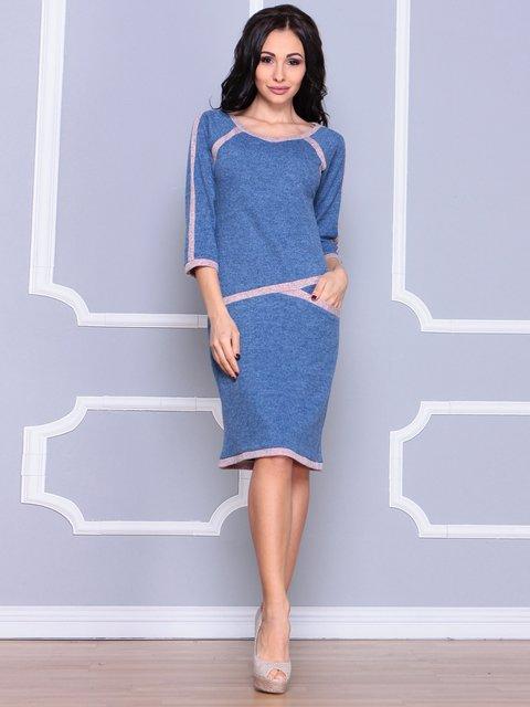 Платье цвета светлый джинс Laura Bettini 3926414