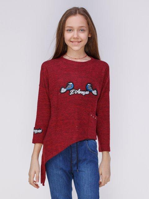 Джемпер бордовый с вышивкой Marions 3839902