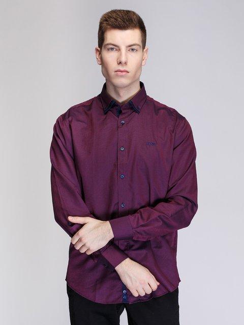 Рубашка бордовая HUGO BOSS 3930815