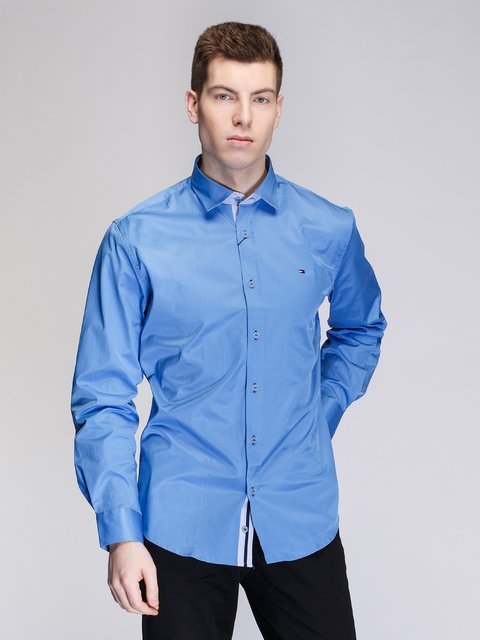 Рубашка голубая Tommy Hilfiger 3930831