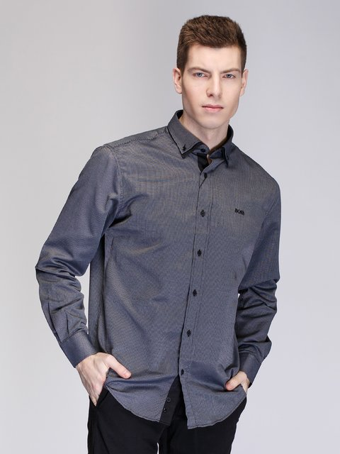 Рубашка серая HUGO BOSS 3930814
