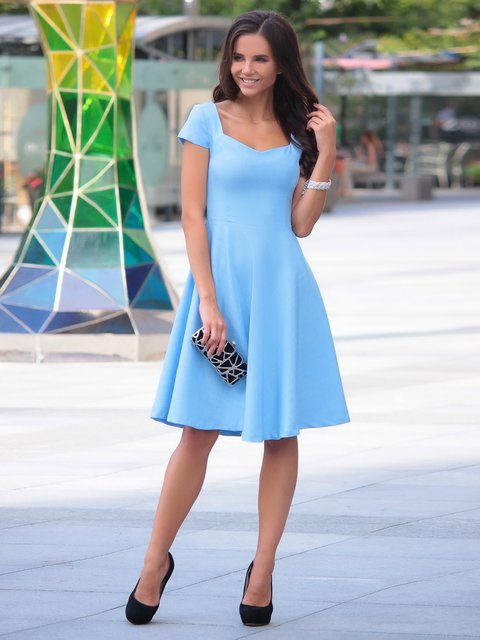 Платье голубое Dioni 3938544