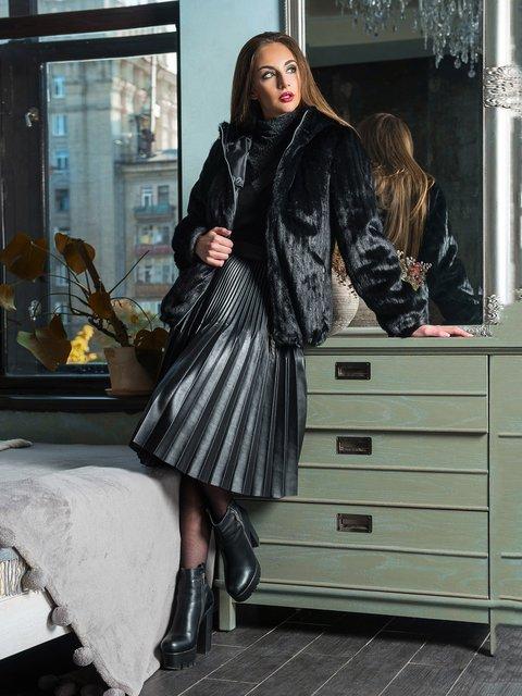 Полушубок черный Grand Furs 3946446