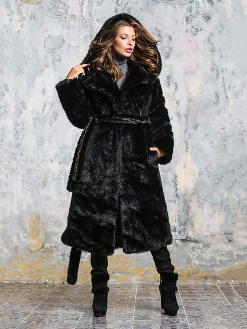 Шуба чорна Grand Furs 3946463