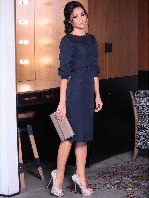 Платье темно-синее Rebecca Tatti 3946434