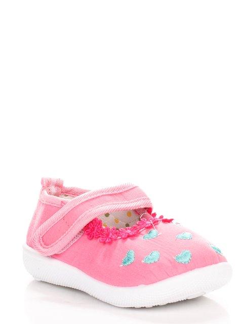 Тапочки рожеві з вишивкою Шалунишка 3919461