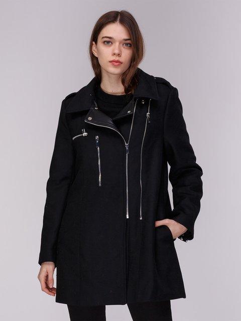 Пальто черное Zara 3910512