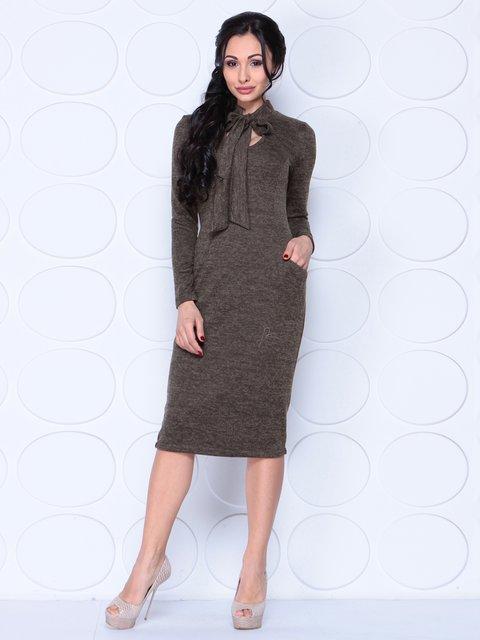 Платье коричневое Laura Bettini 3962331