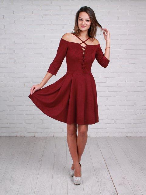 Платье бордовое VSV 3963724