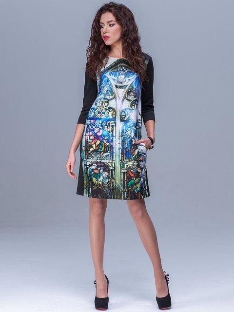 Платье черное в принт Jet 1434405