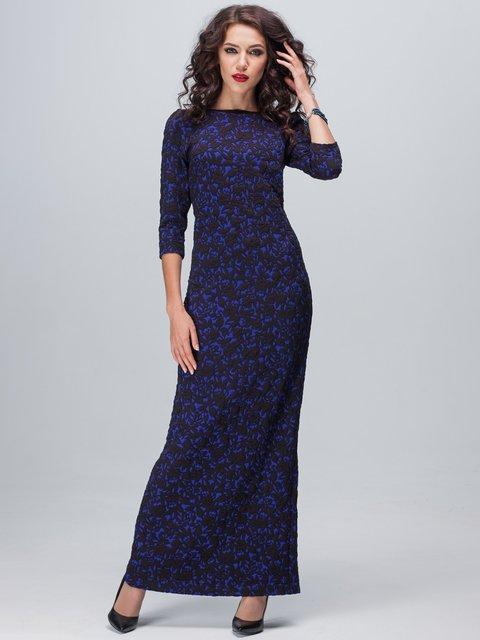 Сукня синьо-чорна в квітковий візерунок Jet 1888707