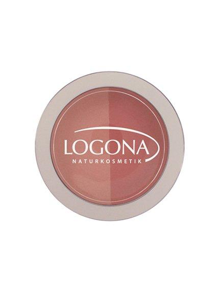 Рум'яна подвійні №02 «Персик і абрикос» (10 г) LOGONA 3967190