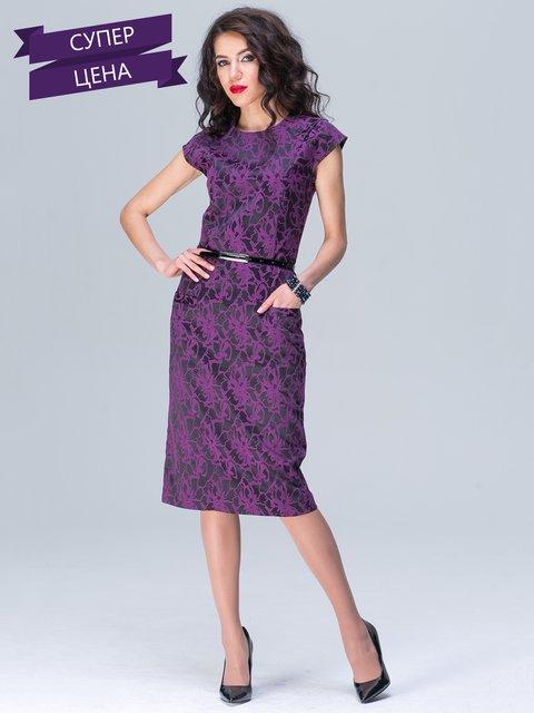 Сукня фіолетова в принт Jet 2161934