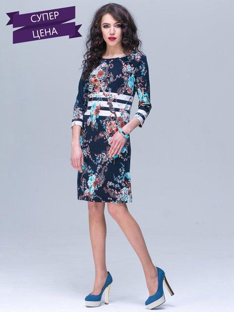 Платье темно-синее с принтом Jet 2170336