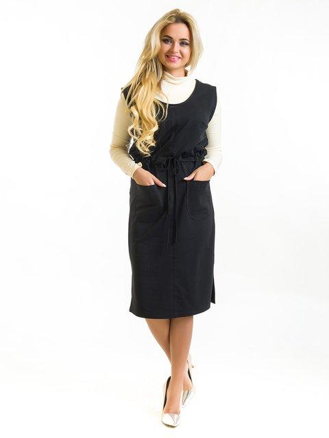 Сарафан черный First Land Fashion 3973835