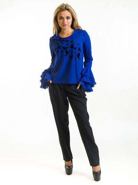 Блуза синя First Land Fashion 3973853